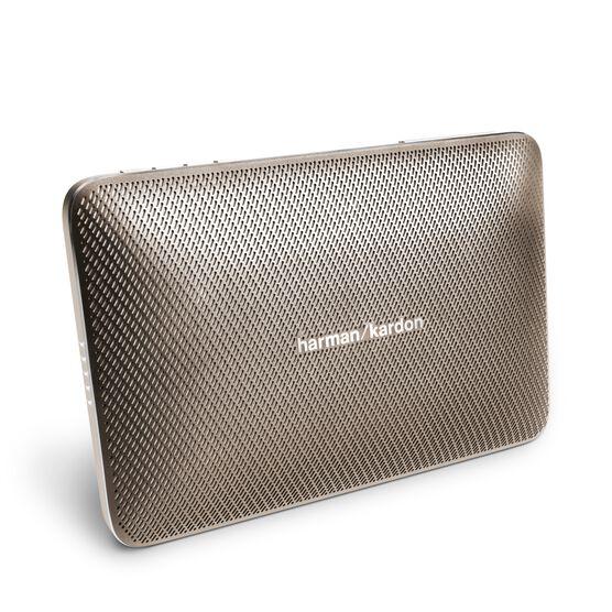 Esquire 2 - Gold - Premium portable Bluetooth speaker with quad microphone conferencing system - Hero