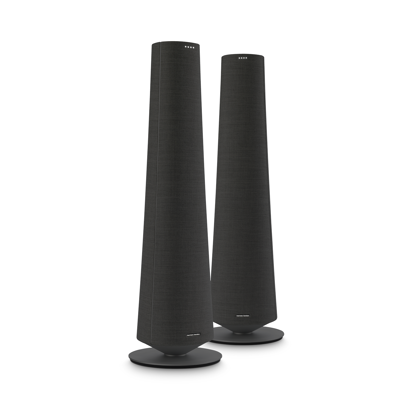 Harman Kardon Citation Tower - Black - Smart Premium Floorstanding Speaker that delivers an impactful performance - Hero